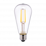 Noxion Lucent Classic LED Filament ST64 E27 4W 827 Kirkas | Erittäin Lämmin Valkoinen - Korvaa 40W