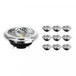 Monipakkaus 10x Noxion Lucent LED Kohdevalaisin AR111 G53 Pro 12V 12W 927 40D| Erittäin Lämmin Valkoinen - Paras Värintois- Himmennettävä - Korvaa 50W
