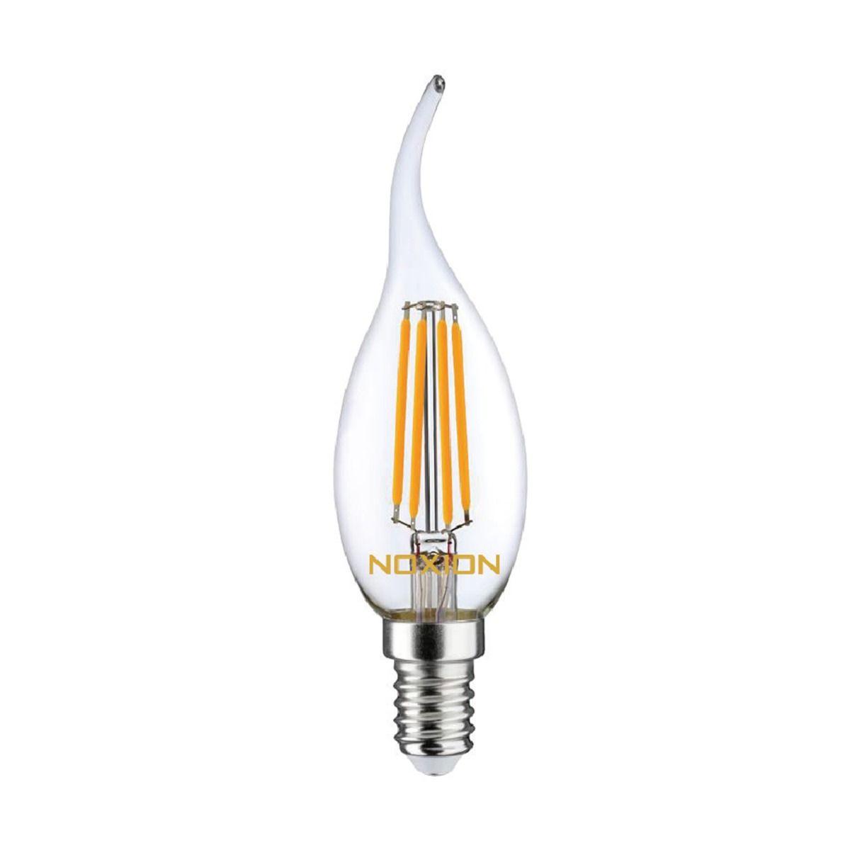 Noxion Lucent Filament LED Candle 4.5W 827 BA35 E14 Kirkas   Himmennettävä - Erittäin Lämmin Valkoinen - Korvaa 40W