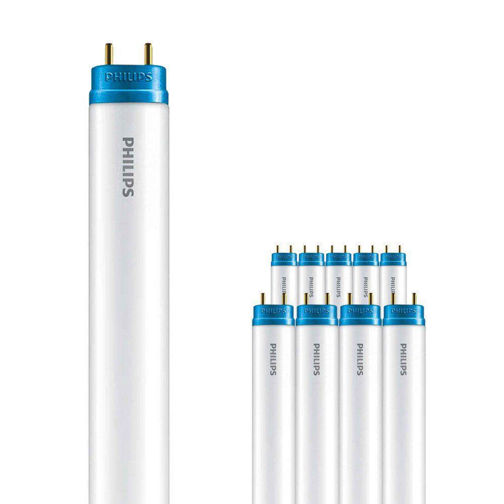 Monipakkaus 10x Philips CorePro LEDtube EM 20W 840 150cm | Kylmä Valkoinen - Sisältää sytyttimen - Korvaa 58W