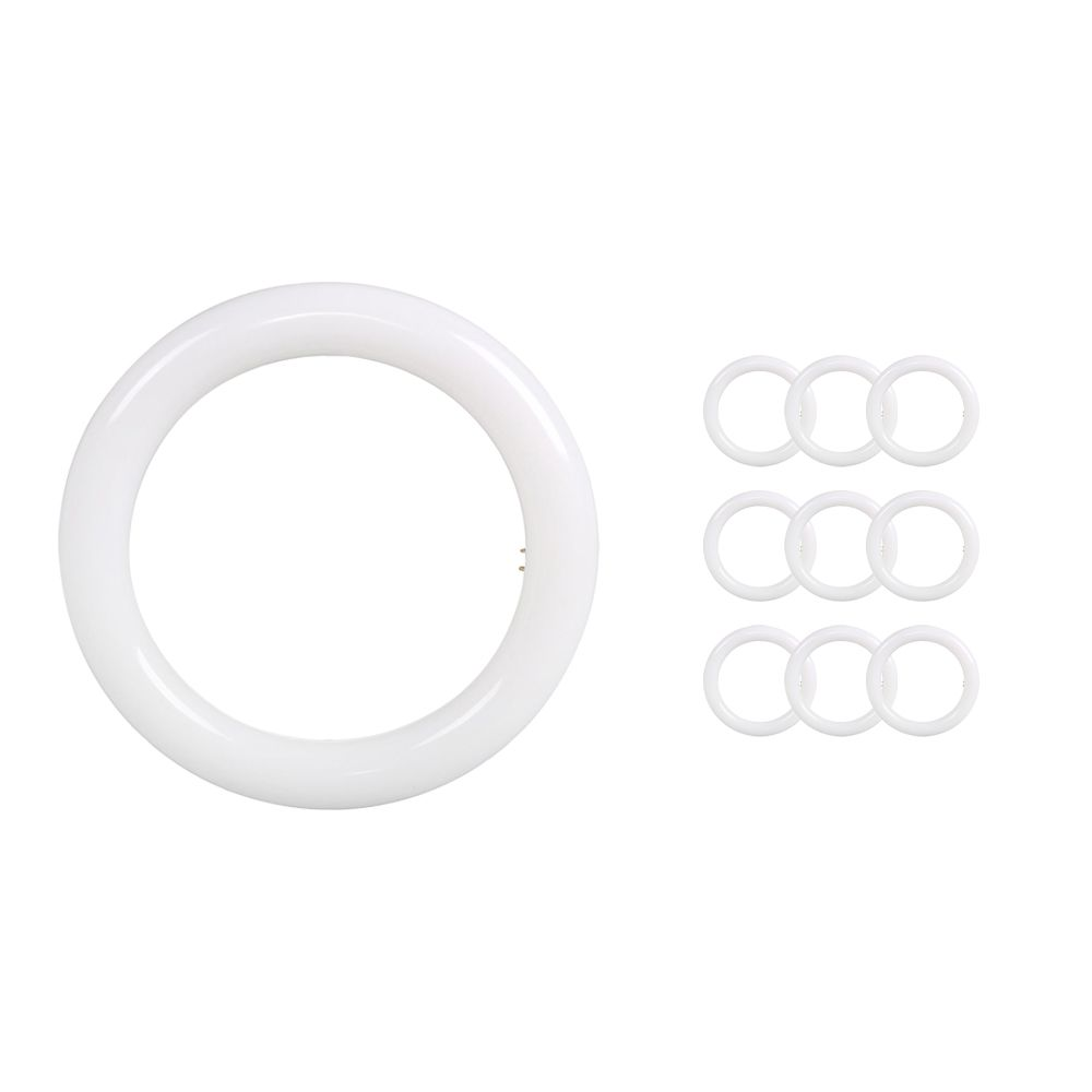 Monipakkaus 10x Noxion Avant LED T9 Tube Circular EM/MAINS 20W 840 | Kylmä Valkoinen - Korvaa 32W