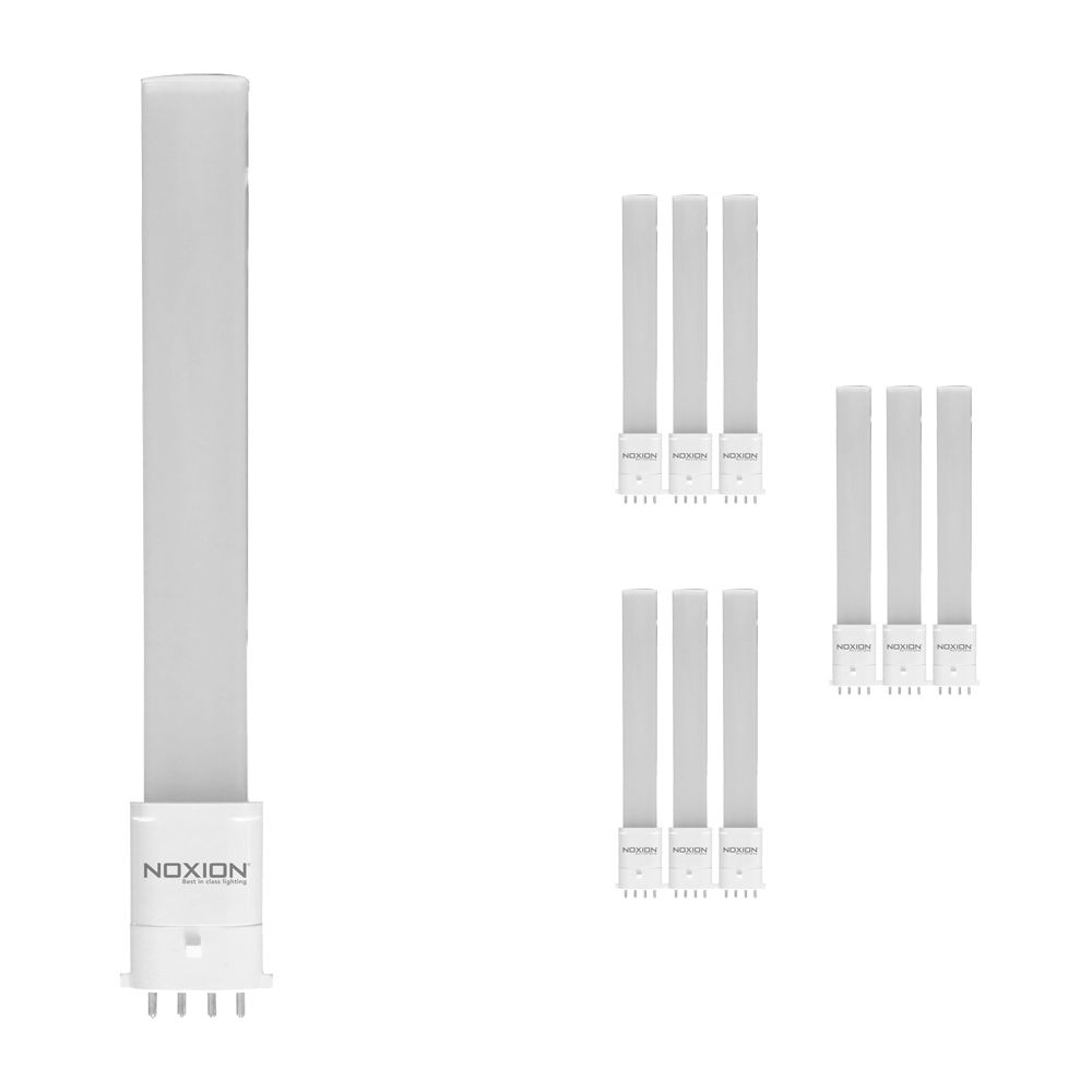 Monipakkaus 10x Noxion Lucent LED PL-S EM 6W 840 | Kylmä Valkoinen - 4-nastaa - Korvaa 11W