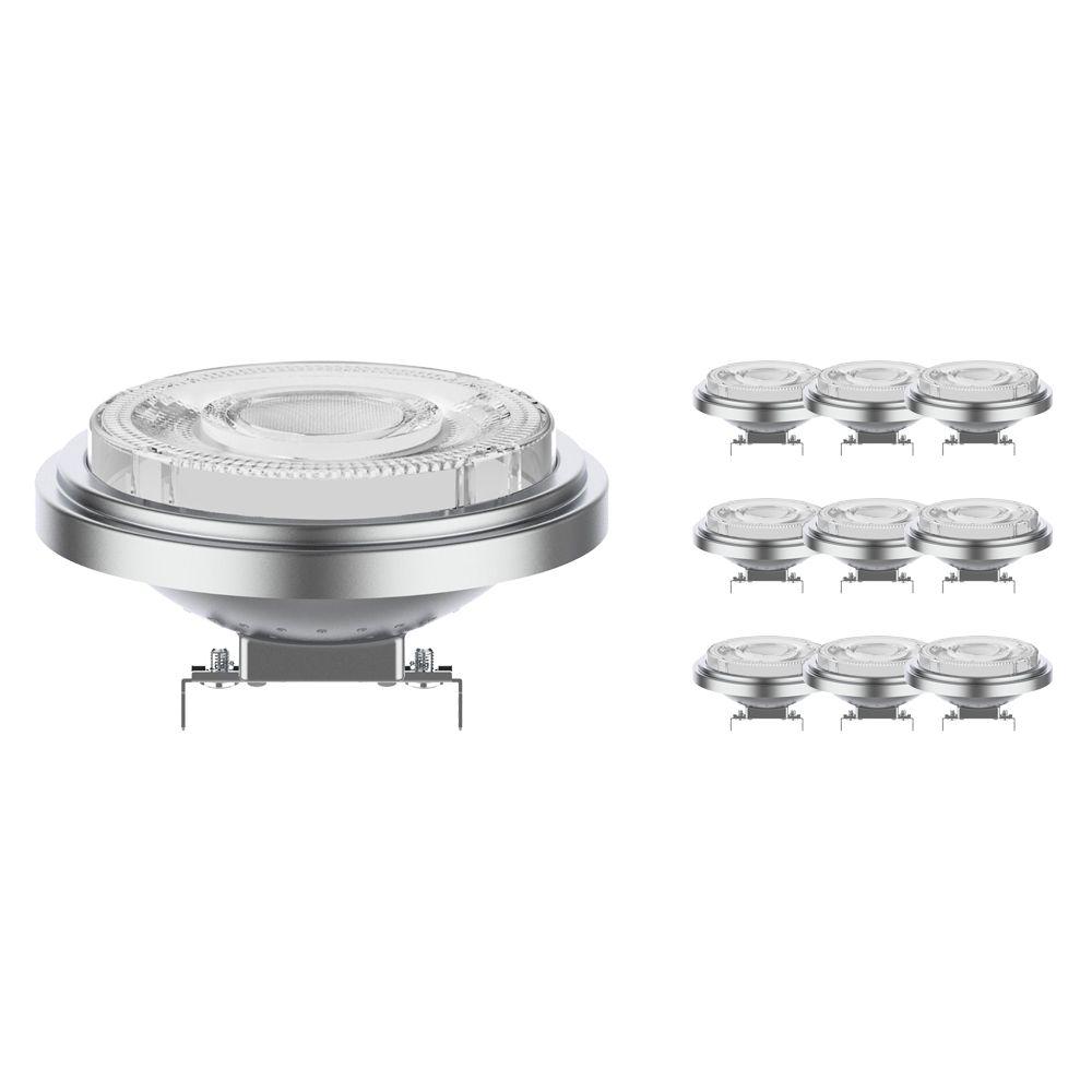 Monipakkaus 10x Noxion Lucent LED Kohdevalaisin AR111 G53 12V 7.3W 930 24D | Himmennettävä - Paras Värintois- Korvaa 50W