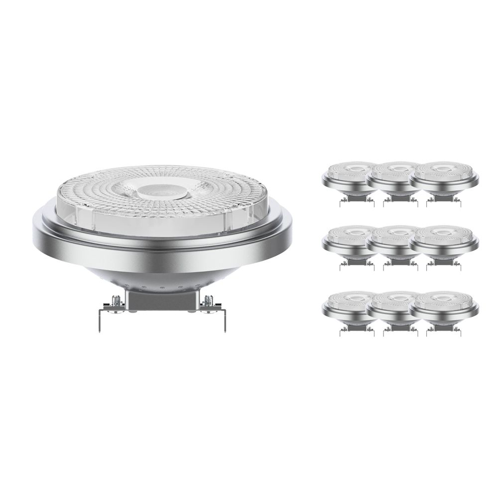 Monipakkaus 10x Noxion Lucent LED Kohdevalaisin AR111 G53 12V 7.3W 930 40D | Himmennettävä - Paras Värintois- Korvaa 50W