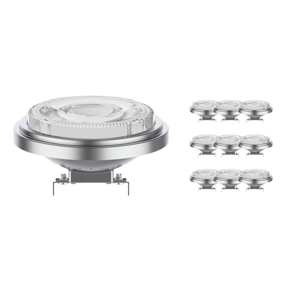 Monipakkaus 10x Noxion Lucent LED Kohdevalaisin AR111 G53 12V 7.3W 918-927 24D | Dim Warm - Paras Värintois- Korvaa 50W