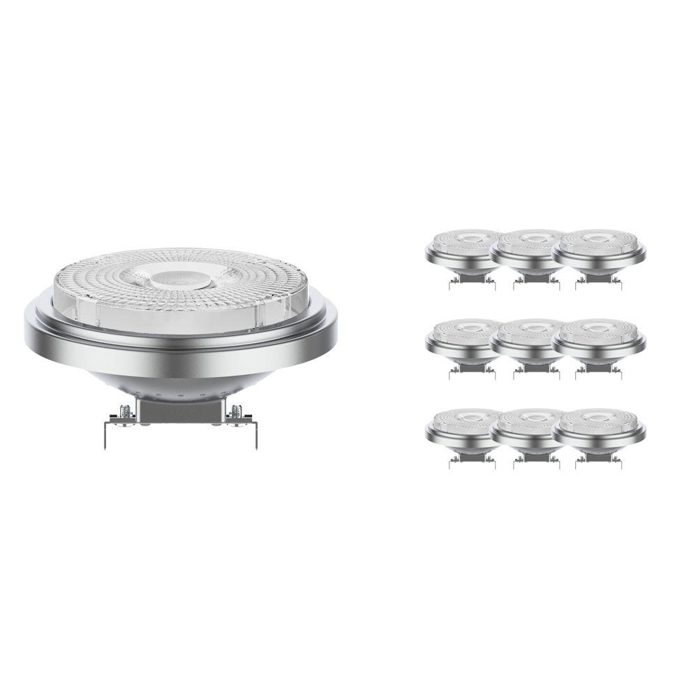 Monipakkaus 10x Noxion Lucent LED Kohdevalaisin AR111 G53 12V 7.3W 918-927 40D   Dim Warm - Paras Värintois- Korvaa 50W