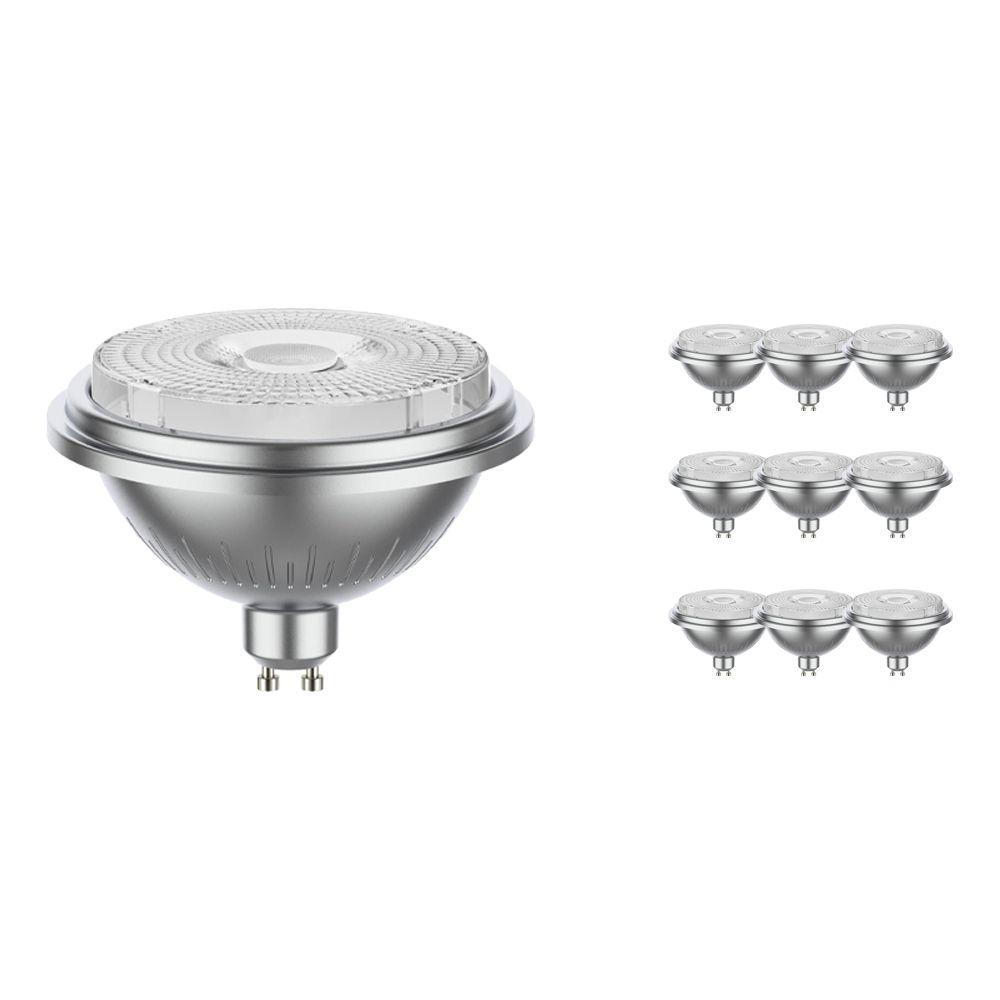 Monipakkaus 10x Noxion LEDspot AR111 GU10 7.5W 927 40D 530lm   Himmennettävä - Erittäin Lämmin Valkoinen - Korvaa 50W