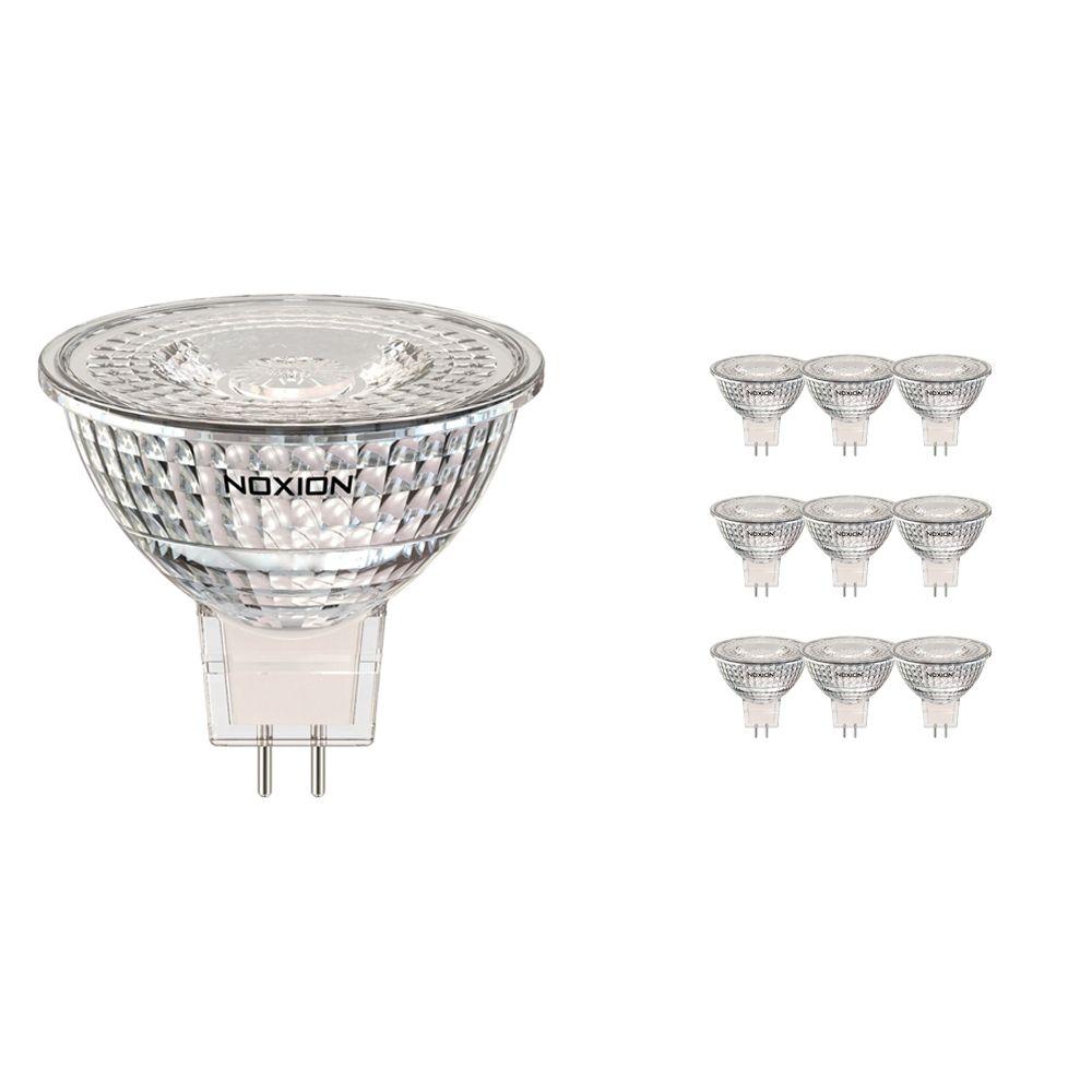 Monipakkaus 10x Noxion LED Kohdevalaisin GU5.3 3.2W 827 36D 270lm | Erittäin Lämmin Valkoinen - Korvaa 20W