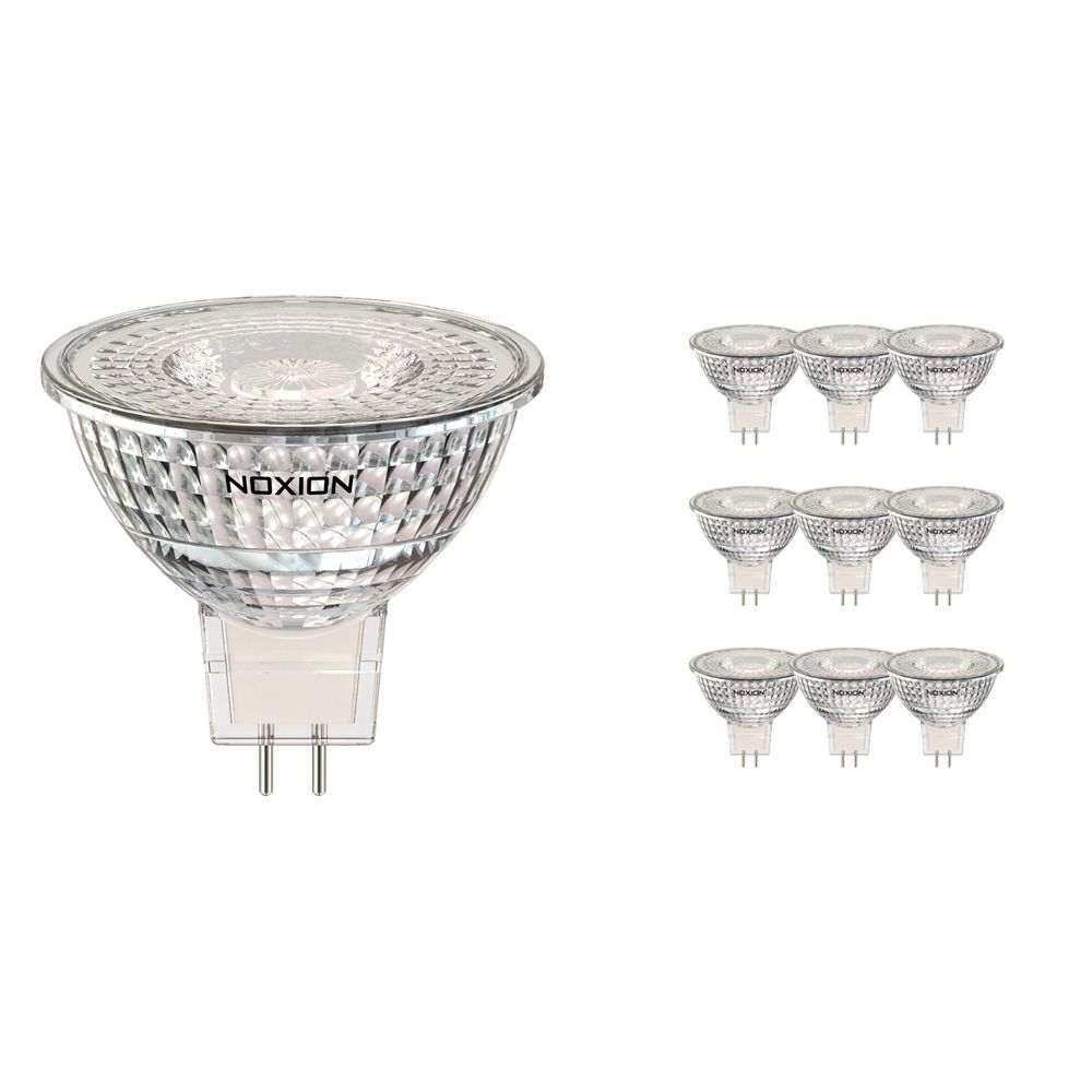 Monipakkaus 10x Noxion LED Kohdevalaisin GU5.3 5W 840 60D 470lm   Himmennettävä - Kylmä Valkoinen - Korvaa 35W