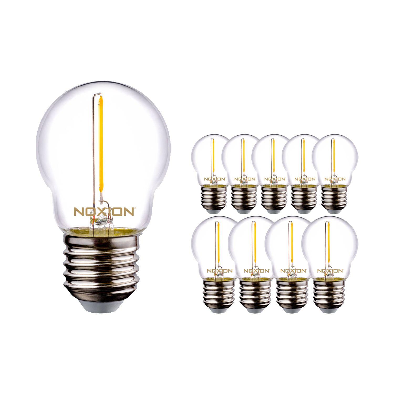 Monipakkaus 10x Noxion Lucent Filament LED Lustre P45 E27 220-240V 1.4W 136LM CRI80 2700K ND (15W eqv.)