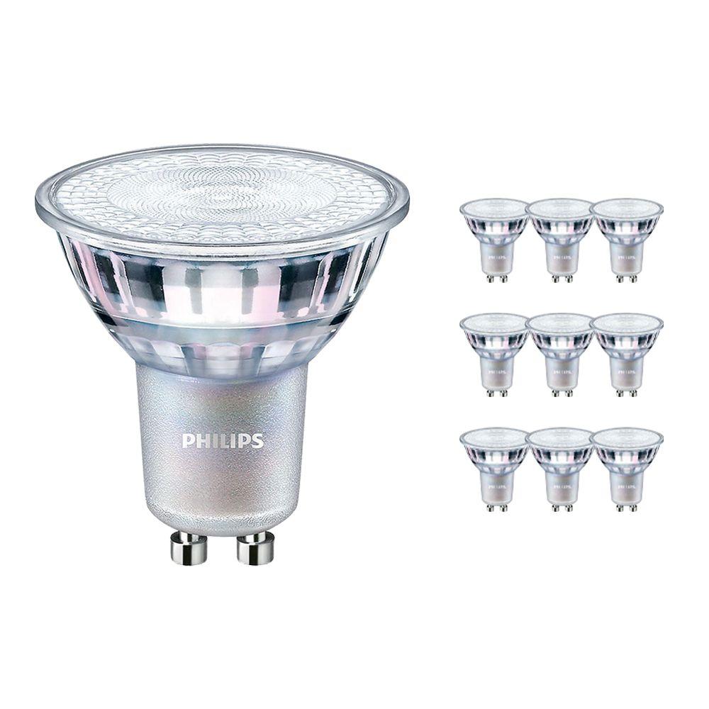 Monipakkaus 10x Philips LEDspot MV Value GU10 4.9W 927 36D (MASTER)   Paras Värintois- Erittäin Lämmin Valkoinen - Himmennettävä - Korvaa 50W