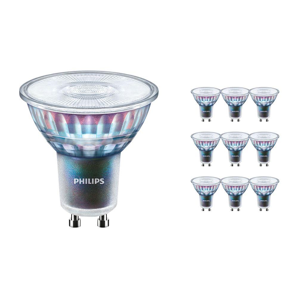 Monipakkaus 10x Philips LEDspot ExpertColor GU10 3.9W 927 36D (MASTER) | Paras Värintois- Erittäin Lämmin Valkoinen - Himmennettävä - Korvaa 35W