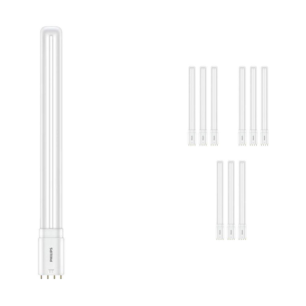 Monipakkaus 10x Philips CorePro PL-L HF LED 16.5W 830 | Lämmin Valkoinen - 4-nastaa - Korvaa 36W