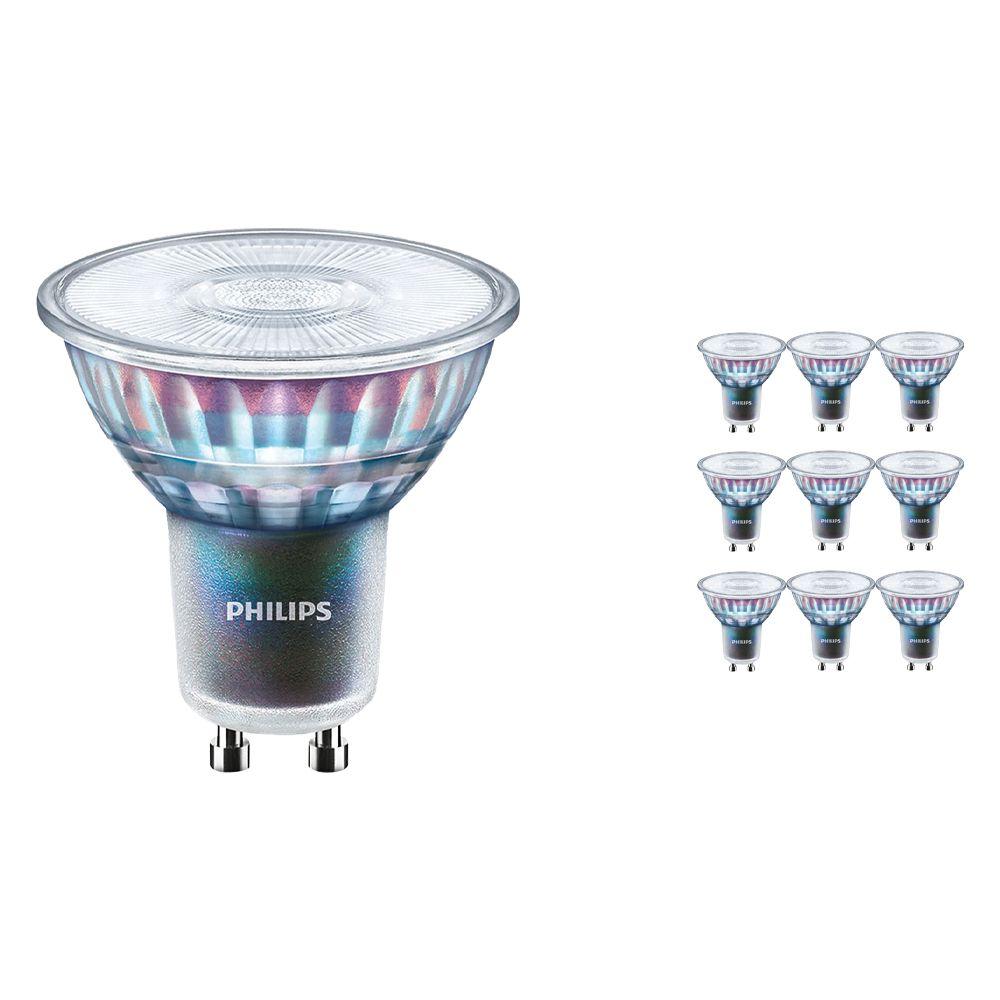 Monipakkaus 10x Philips LEDspot ExpertColor GU10 5.5W 927 25D (MASTER) | Paras Värintois- Erittäin Lämmin Valkoinen - Himmennettävä - Korvaa 50W
