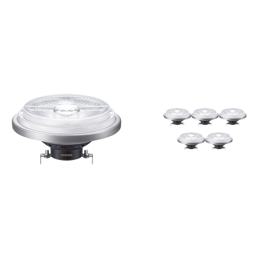 Monipakkaus 6x Philips LEDspot ExpertColor G53 AR111 (MASTER) 11W 927 24D | Paras Värintois- Korvaa 50W