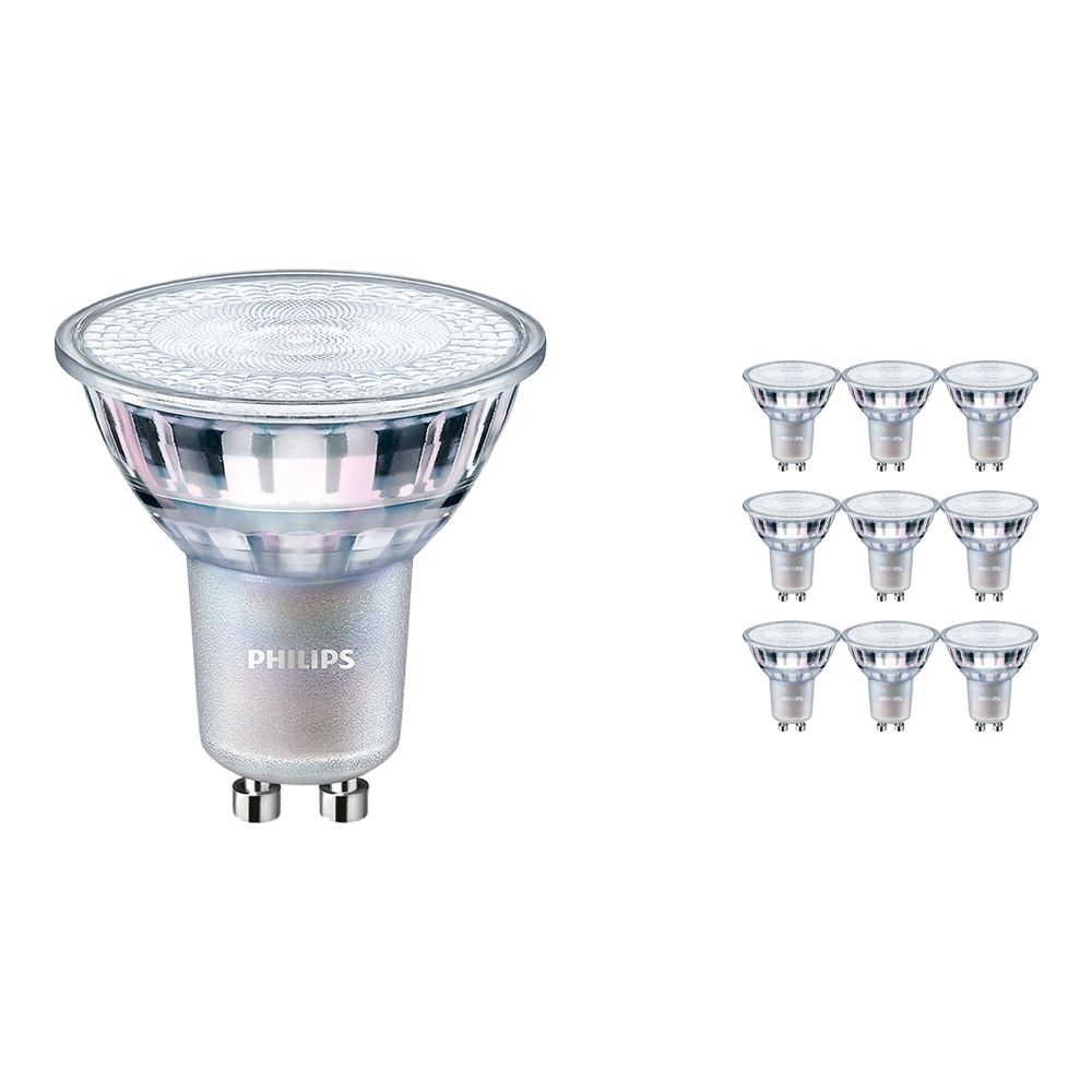 Monipakkaus 10x Philips LEDspot MV Value GU10 4.9W 940 60D (MASTER)   Paras Värintois- Kylmä Valkoinen - Himmennettävä - Korvaa 50W
