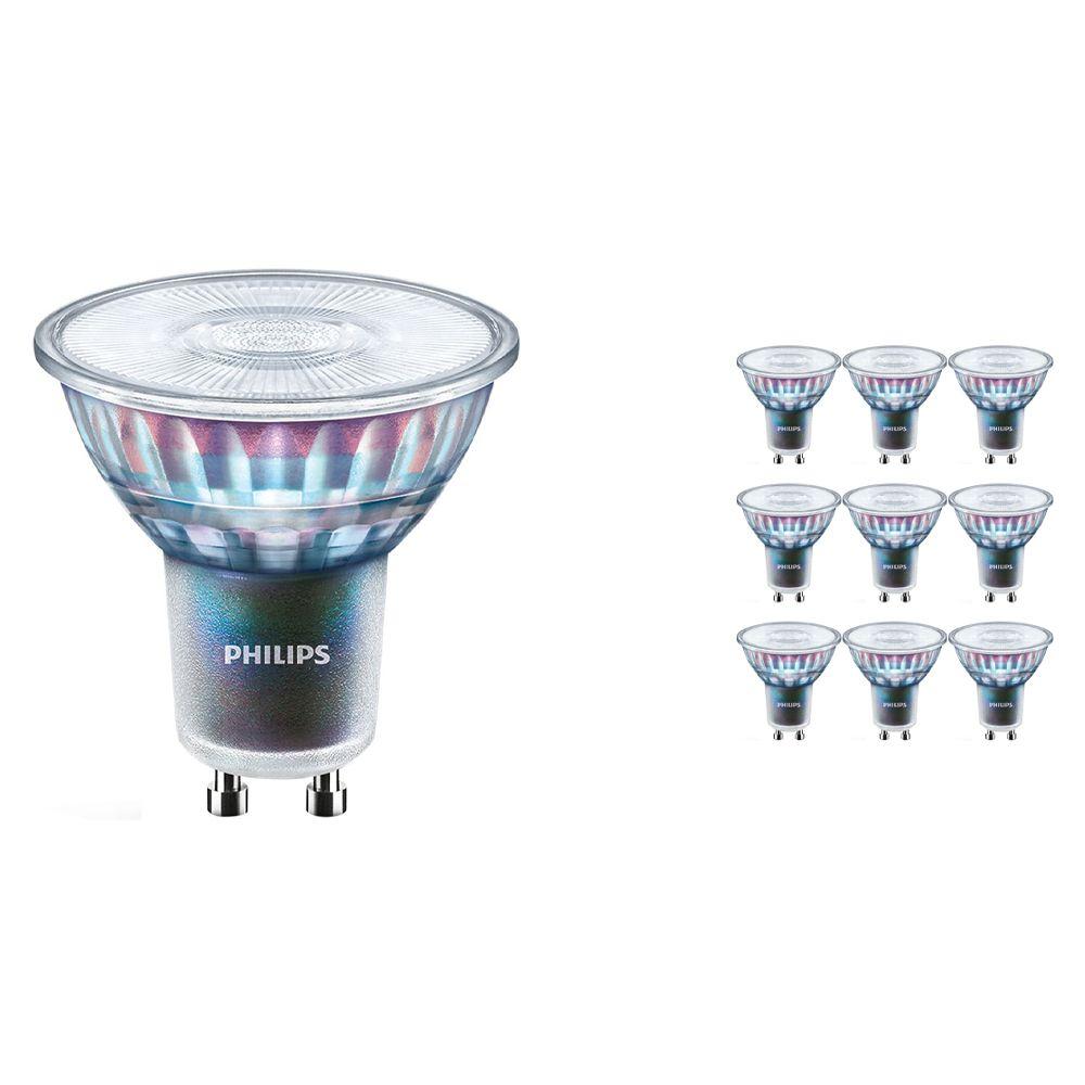 Monipakkaus 10x Philips LEDspot ExpertColor GU10 5.5W 940 36D (MASTER) | Paras Värintois- Kylmä Valkoinen - Himmennettävä - Korvaa 50W