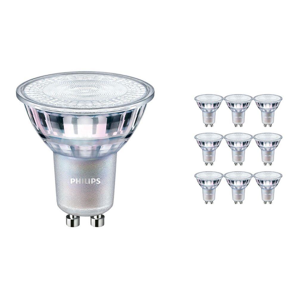 Monipakkaus 10x Philips LEDspot MV Arvo GU10 3.7W 940 60D (MASTER) | Paras Värintois- Kylmä Valkoinen - Himmennettävä - Korvaa 35W