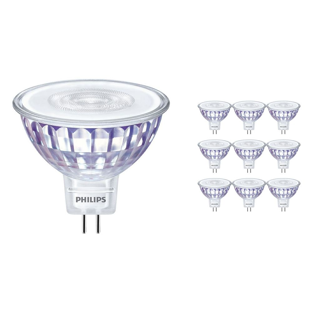 Monipakkaus 10x Philips LEDspot LV Arvo GU5.3 MR16 5.5W 840 60D (MASTER)   Kylmä Valkoinen - Himmennettävä - Korvaa 35W
