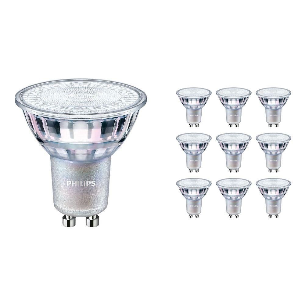 Monipakkaus 10x Philips LEDspot MV Value GU10 3.7W 940 36D (MASTER) | Paras Värintois- Kylmä Valkoinen - Himmennettävä - Korvaa 35W