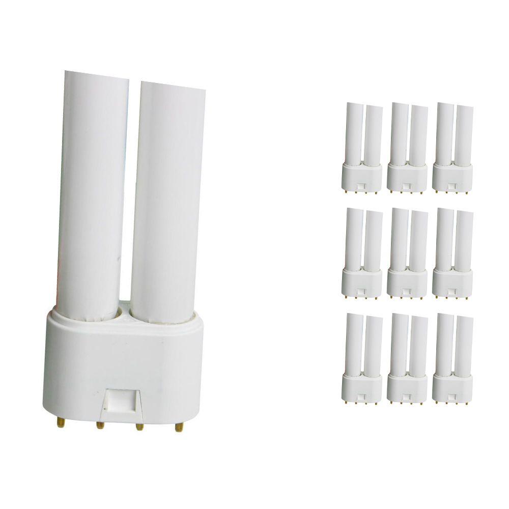 Monipakkaus 10x Osram Dulux L 18W 840 | Kylmä Valkoinen - 4-nastaa