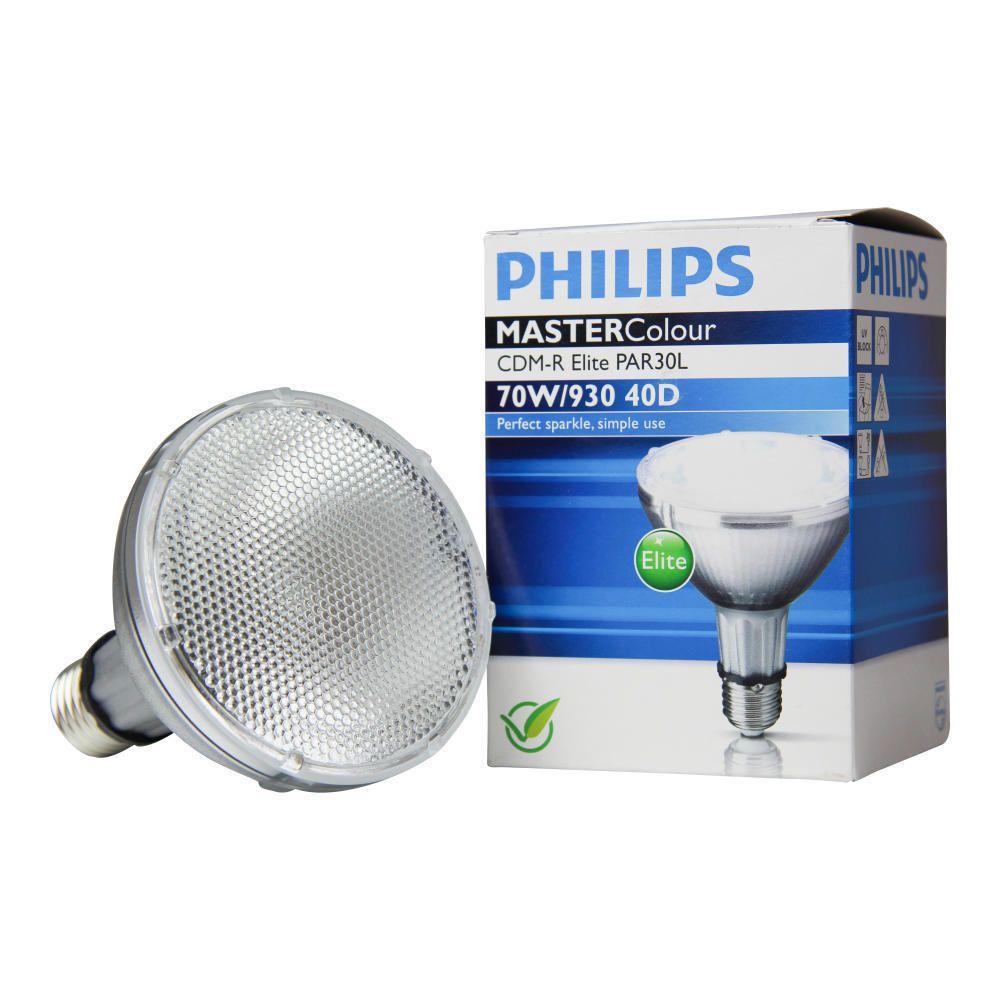 Philips MASTERColour CDM-R Elite 70W 930 E27 PAR30L 40D | Lämmin Valkoinen - Paras Värintoisto