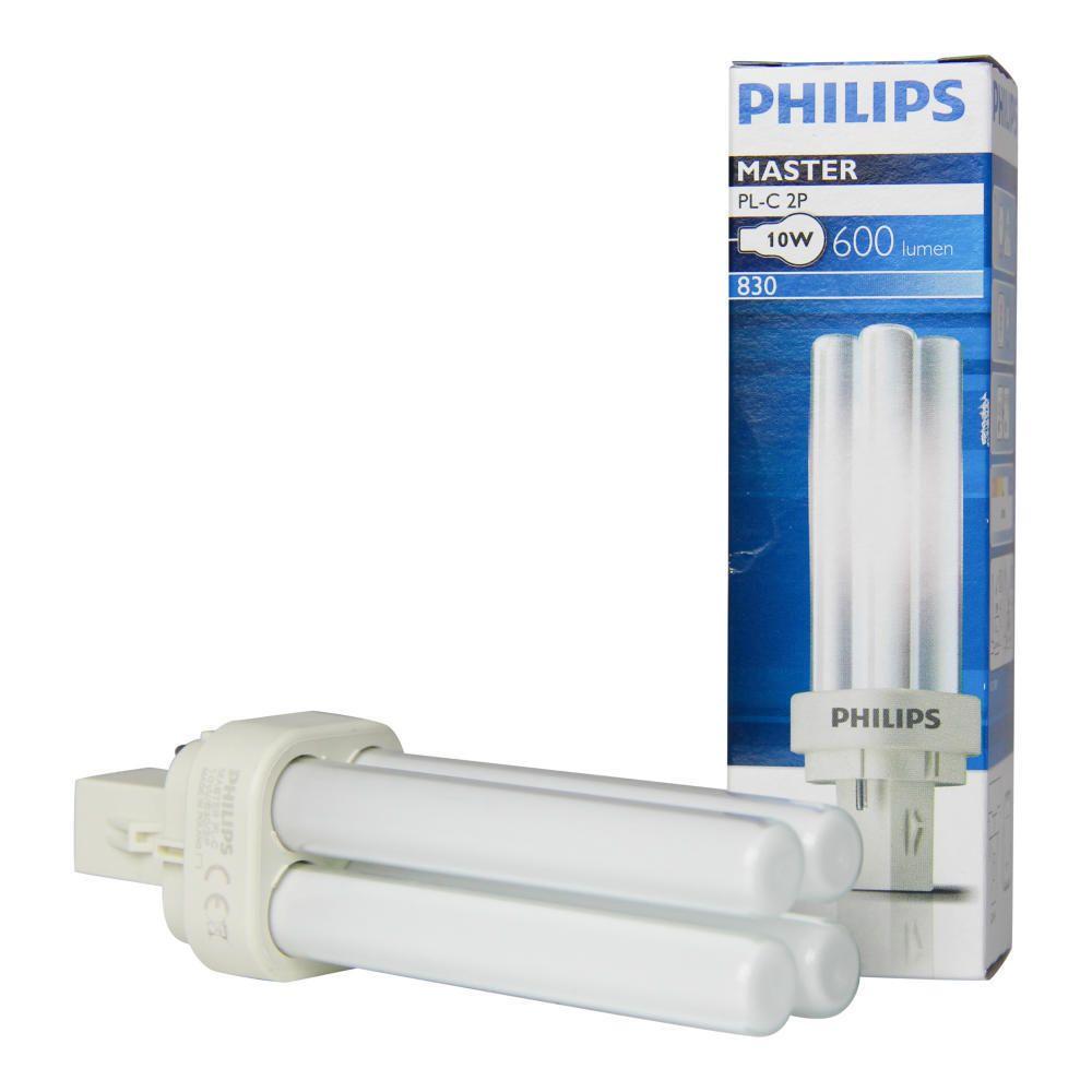 Philips PL-C 10W 830 2P (MASTER) | Lämmin Valkoinen - 2-Nastaa