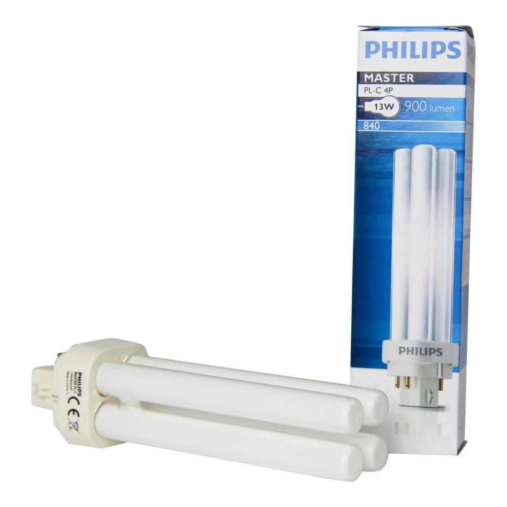 Philips PL-C 13W 840 4P (MASTER) | Kylmä Valkoinen - 4-Nastaa