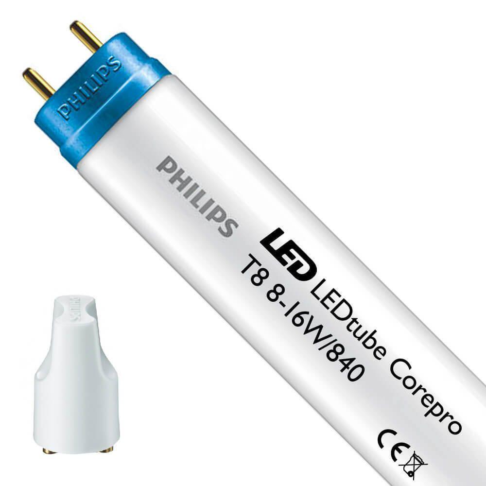 Philips CorePro LEDtube EM 8W 840 60cm   Kylmä Valkoinen - Sisältää sytyttimen - Korvaa 18W