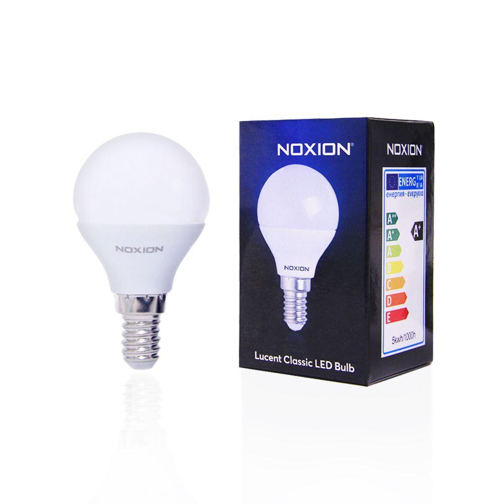 Noxion Lucent LED Classic Lustre 5W 827 P45 E14 | Erittäin Lämmin Valkoinen - Korvaa 40W