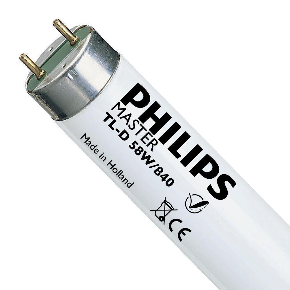 Philips TL-D 58W 840 Super 80 (MASTER)   150cm - Kylmä Valkoinen