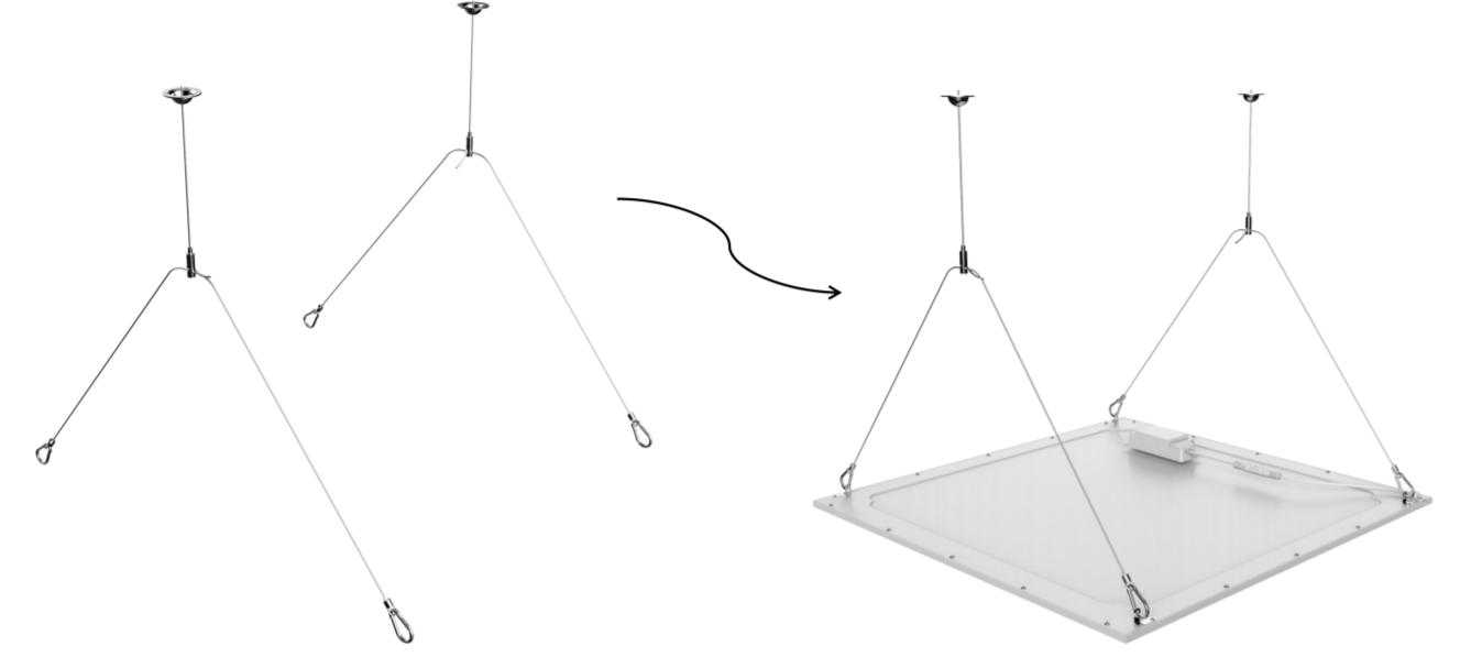 Noxion LED-paneelien ripustustarvikkeet
