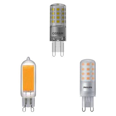 Kolme G9 LED lamppua