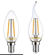 E14-LED-Lamppuja Noxionilta